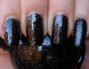 Black Glitter Nail Polish