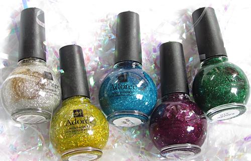 Adoree nail polish glitter