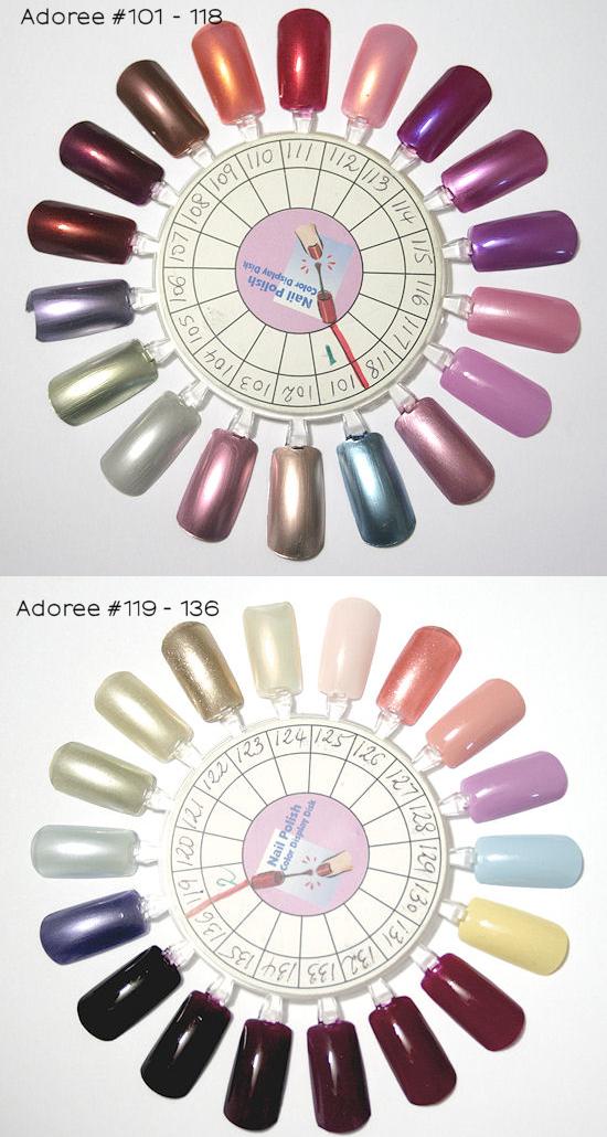 adoree nail polish #101-136