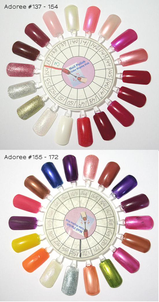Opi gel nail polish color wheel