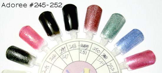 adoree nail polish #245-252