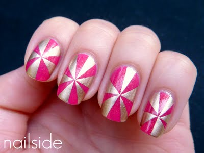 Nail Art Design with Tape. Curious on how she did it? Visit her blog and