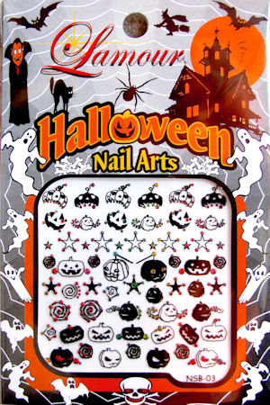 art nail sticker halloween