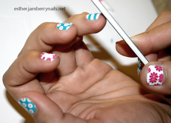 jamberry nails review  file nail