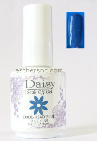 daisy gel nail polish cool head blue 1159