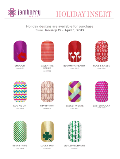 jamberry nails holiday insert  2013
