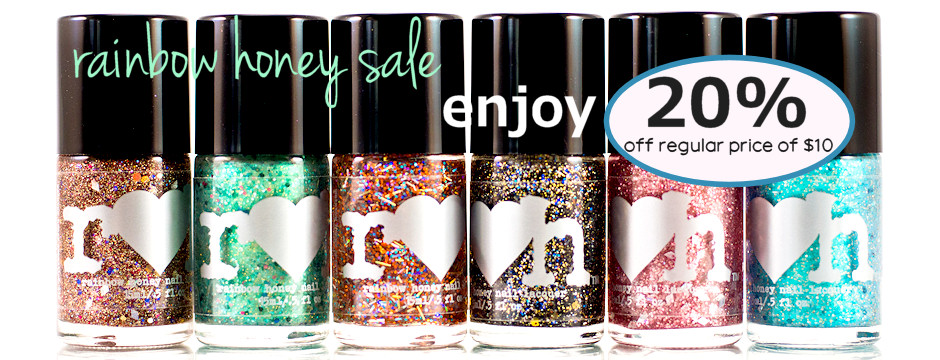 rainbow honey nail polish sale