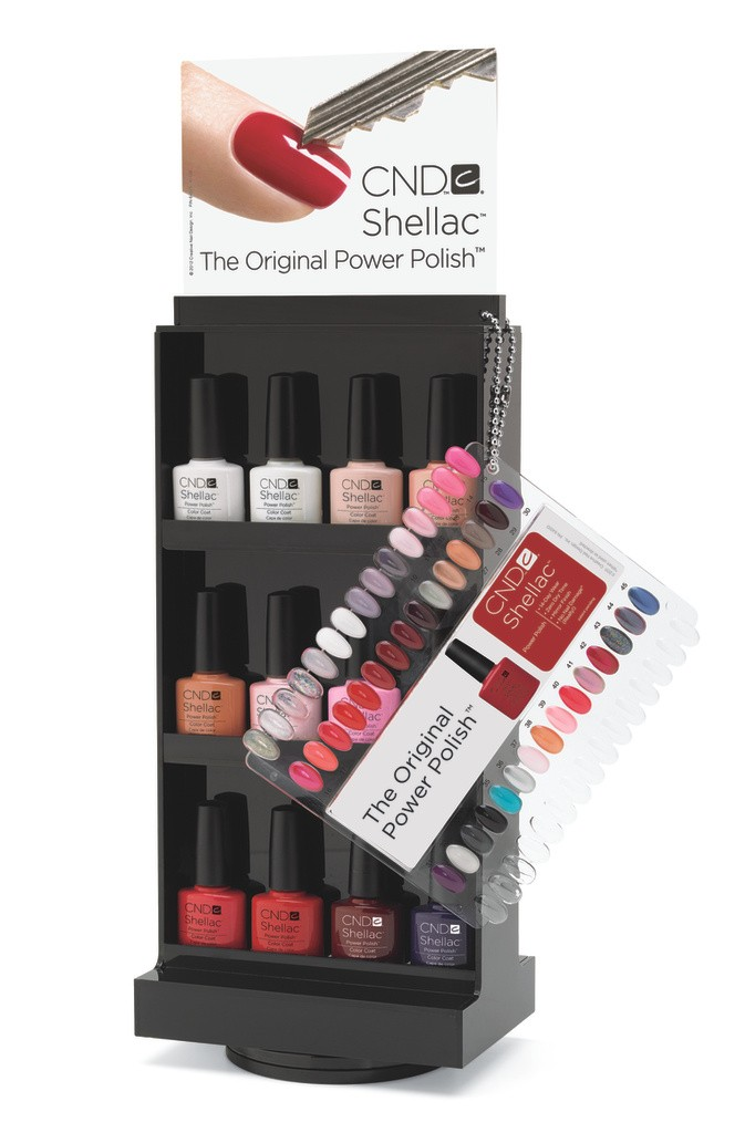 shellac nail polish display rack