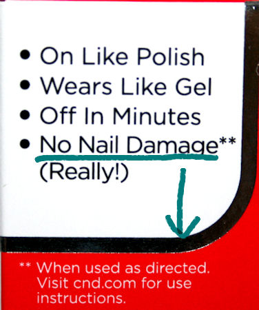 Shellac doesn't damage nails