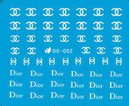 chanel dior logo-glow-in-dark-stickers