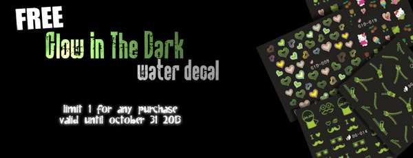free glow in the dark water decal