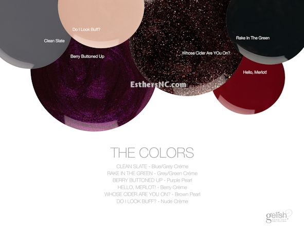 gelish fall 2014 colors collection