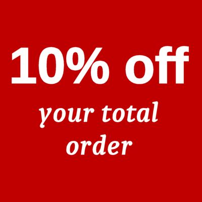 10% off your order