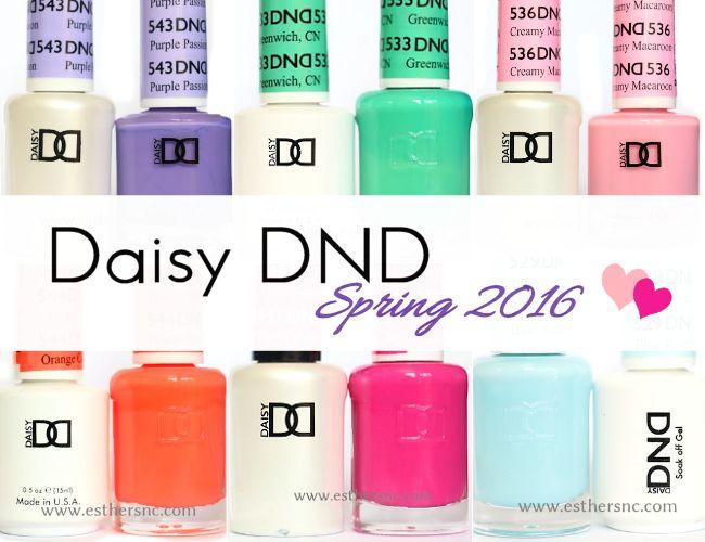 daisy dnd spring 2016 gel polish