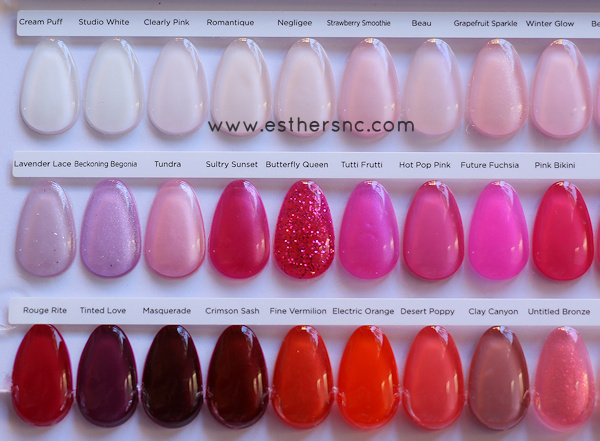 CND Shellac Color Chart