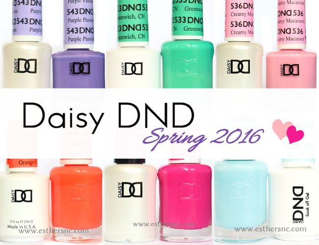 Sweet Delightful New Daisy Dnd Spring 2016 Colors Esther S Nail Corner